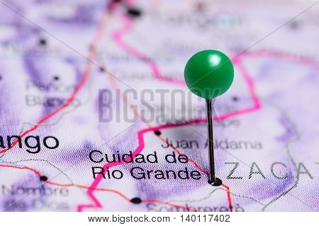 Rio Grande pinned on a map of Mexico
