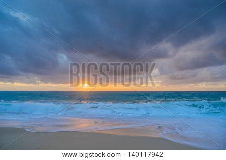 Pefkulia beach on a stormy day  Lefkada Greece
