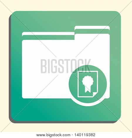 Folder Certificate Icon In Vector Format. Premium Quality Folder Certificate Symbol. Web Graphic Fol