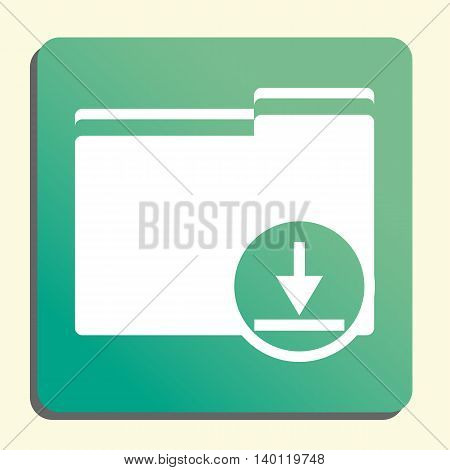 Folder Download Icon In Vector Format. Premium Quality Folder Download Symbol. Web Graphic Folder Do