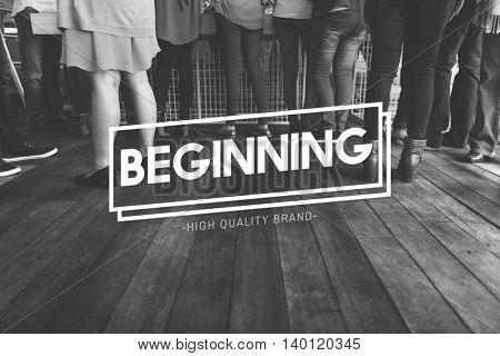 Beginning Aspiration Goal Launch Mission Start Concept