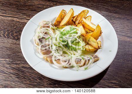herring with potato