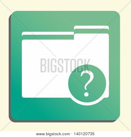 Folder Help Icon In Vector Format. Premium Quality Folder Help Symbol. Web Graphic Folder Help Sign