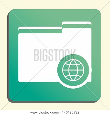 Folder Internet Icon In Vector Format. Premium Quality Folder Internet Symbol. Web Graphic Folder In