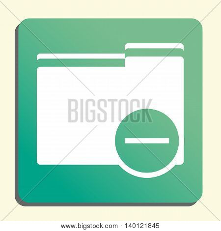 Folder Remove Icon In Vector Format. Premium Quality Folder Remove Symbol. Web Graphic Folder Remove