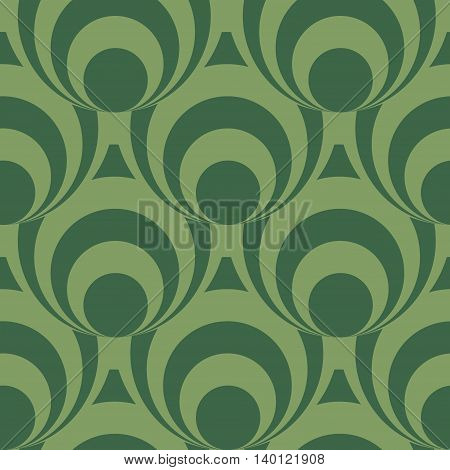 Seamless background pattern with rounds. Vector illustration