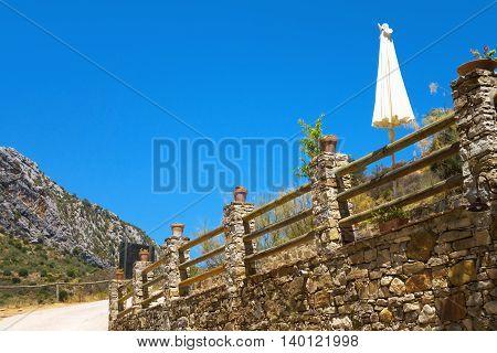 Scenic view in Cueva del Gato Benaojan Ronda Spain.