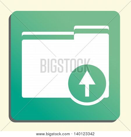 Folder Up Icon In Vector Format. Premium Quality Folder Up Symbol. Web Graphic Folder Up Sign On Gre