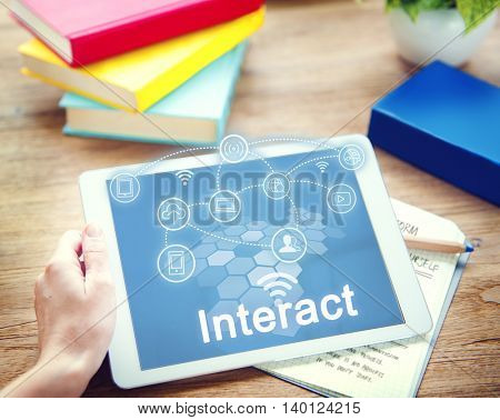 Social Network Internet Connection Technology Concept