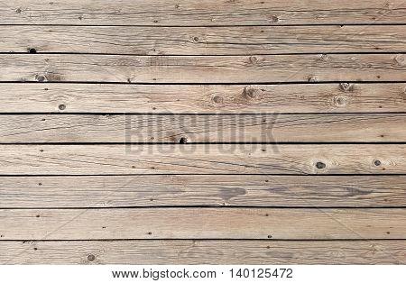 Horizontal Wooden Oak Planks Deck Texture Background
