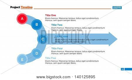 Process chart slide template. Business data. Graph, diagram, design. Creative concept for infographic, templates, presentation, report. Can be used for topics like planning, management, research.