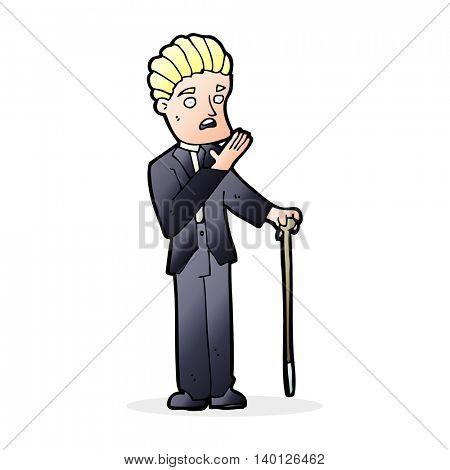 cartoon shocked gentleman