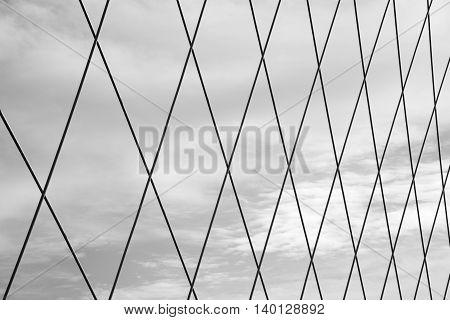 big steel net against sky pattern, texture