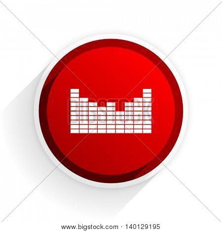 sound flat icon with shadow on white background, red modern design web element