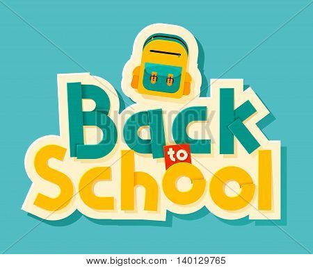 Back to school lettering. Can use for advertisements marketing web social media or related material presentation. Vector illustration