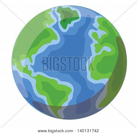 Vectore cartoon glass gloube. Cute Earth icon