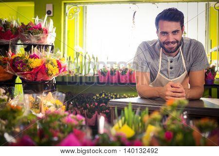 Portrait of male florist at his flower shop
