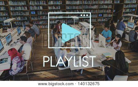 Media Audio Player Blog Concept