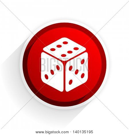 game flat icon with shadow on white background, red modern design web element