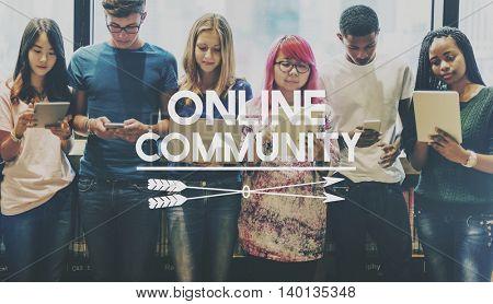 Online Community Social Media Networking Concept