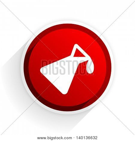 chemistry flat icon with shadow on white background, red modern design web element