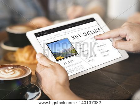 Buy Online Shopping Internet Website Concept