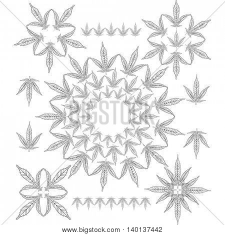Cannabis outline pattern