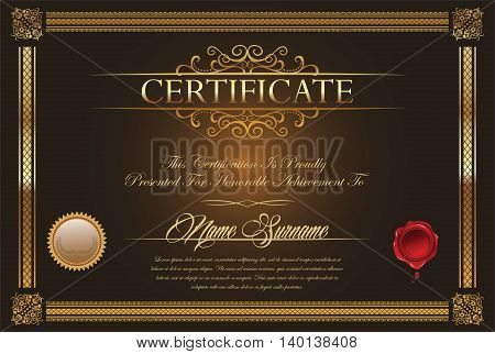 Certificate Or Diploma Template 5.eps