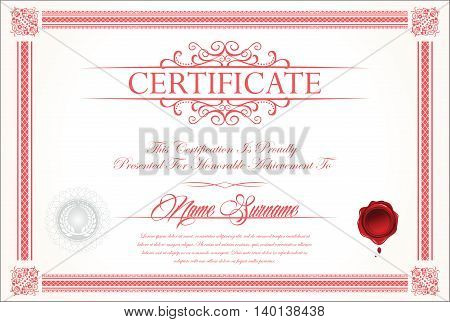 Certificate Or Diploma Template 2.eps