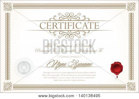 Certificate Or Diploma Template 1.eps