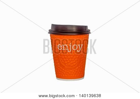 The paper glass is intended for hot drinks