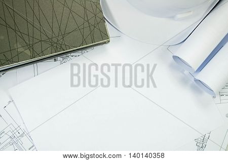 Engineering Drawing With Free White Space For Text