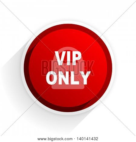 vip only flat icon with shadow on white background, red modern design web element