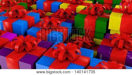3D illustration - gift/ present concept.gift, box, decoration,