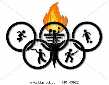 Olympic symbol ,clipart ,illustration, logo , graphic