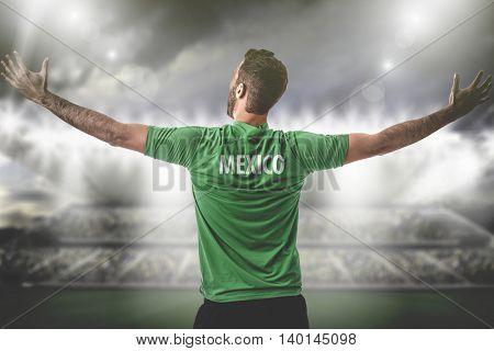 Athlete on Mexico uniform