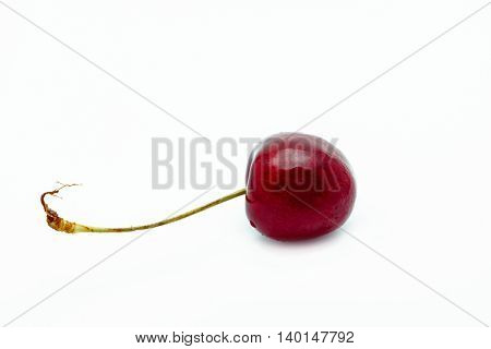 Cherry on white background Delicious fruit concept isolate