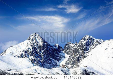 winter mountain scene in Tatras, Slovakia