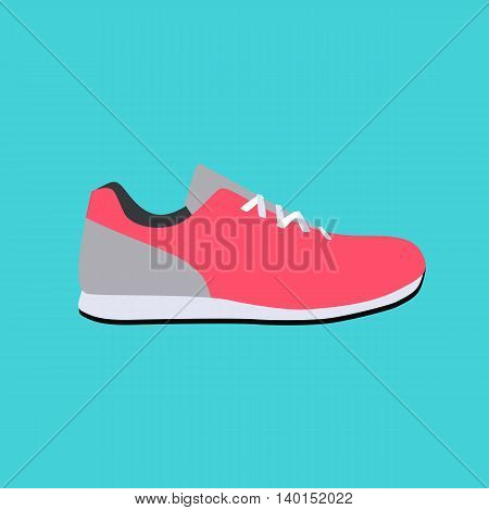 Sport Sneakers Icon Flat Vector Illustration EPS10