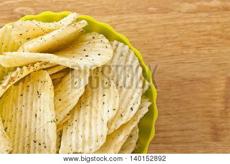 fresh sour cream and onions potato chips
