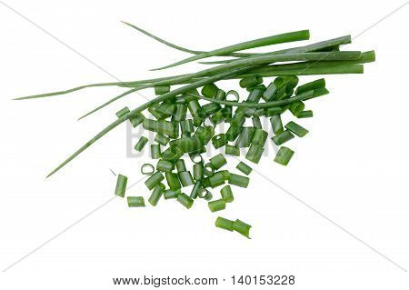 Cut Onion Isolated On The White Background