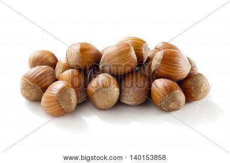 image of hazelnut isolated on a white background