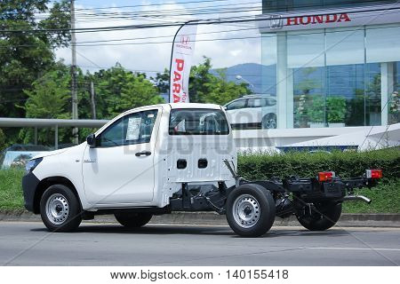 CHIANGMAI THAILAND -JULY 26 2016: Private Pickup car Toyota Hilux Revo Standard Cab. On road no.1001 8 km from Chiangmai Business Area.