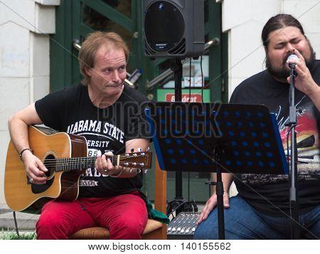 Concert Of Shabby Blues Band On Keszthely Street Festival