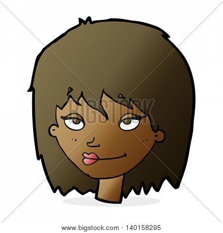 cartoon smiling woman
