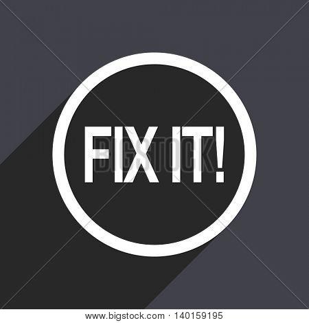 Flat design gray fix it vector icon