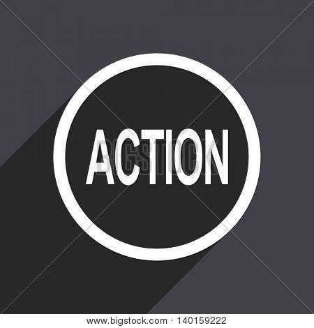 Flat design gray action vector icon