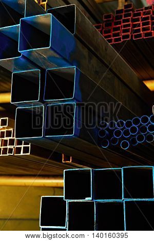Coloured Square And Round Steel Tubes