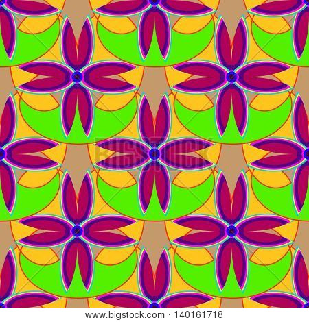 New simple abstract geometric seamless pattern with flower for background.