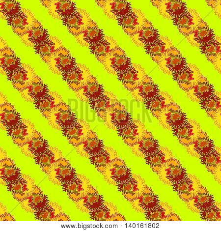 Autumn bright colors leaves carved seamless pattern for background or design work.